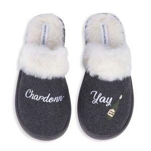 Saks Fifth Avenue Faux Fur Slippers